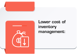 Lower cost of inventory management